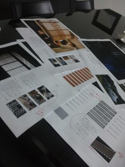 製品カタログ制作中。。