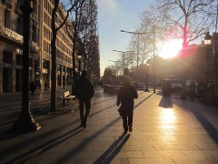パリの朝。
